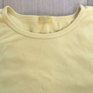 yellow bm cropped top